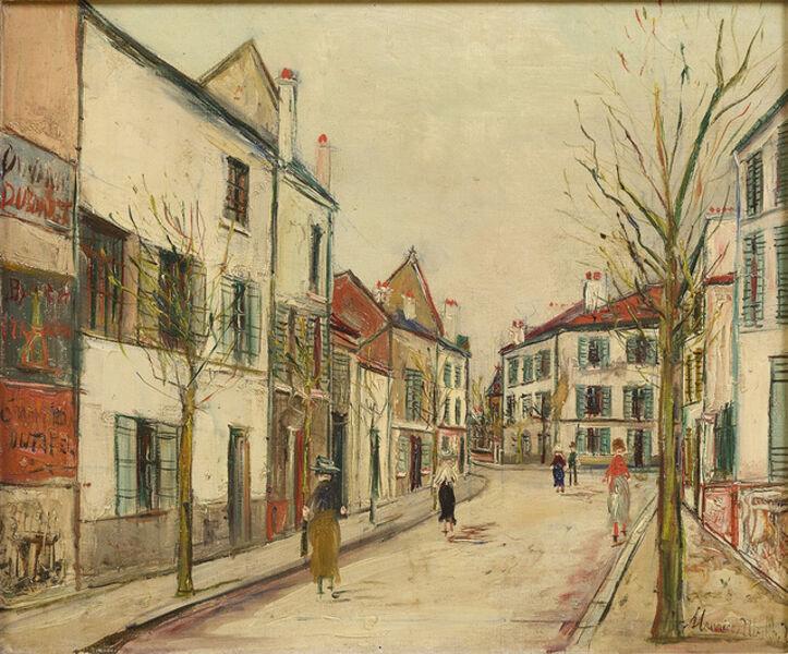 Maurice Utrillo, 'Rue Pontoise a Montmarte', ca. circa 1935