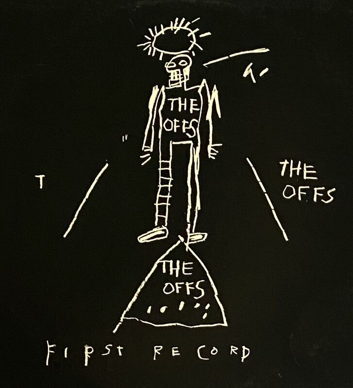 Jean-Michel Basquiat, 'Basquiat The Offs 1984', 1984, Print, Offset lithograph on record album cover, Lot 180
