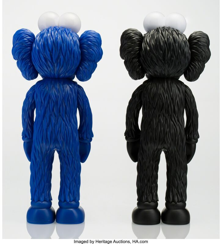 KAWS, 'BFF (Open Edition) (Black and MoMA) (two works)', 2017, Other, Painted cast vinyl, Heritage Auctions