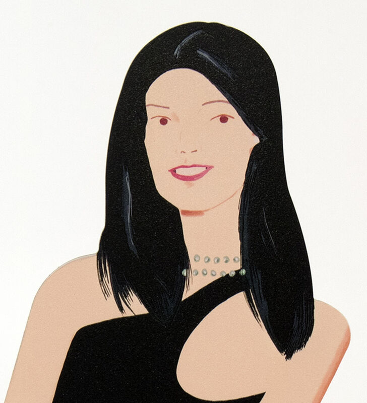 Alex Katz, 'Yi', 2018, Sculpture, Cutout from shaped powder-coated aluminum, printed the same on each side with UV cured archival inks, clear coated, and mounted to 1/4 inch stainless steel base. Signed., Meyerovich Gallery