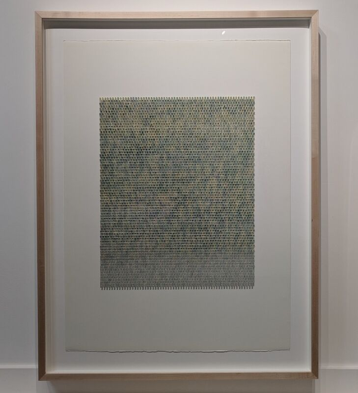 Meg Hitchcock, 'Cicada', 2018, Drawing, Collage or other Work on Paper, Typed words and paint on paper mounted on paper, Kenise Barnes Fine Art