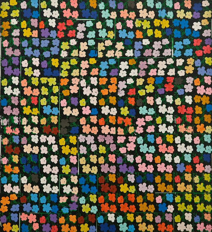 """Richard Pettibone, 'Andy Warhol, """"Flowers"""", 1964 (132 times)', 1971, Painting, Acrylic and silkscreen on canvas, Collectors Contemporary"""