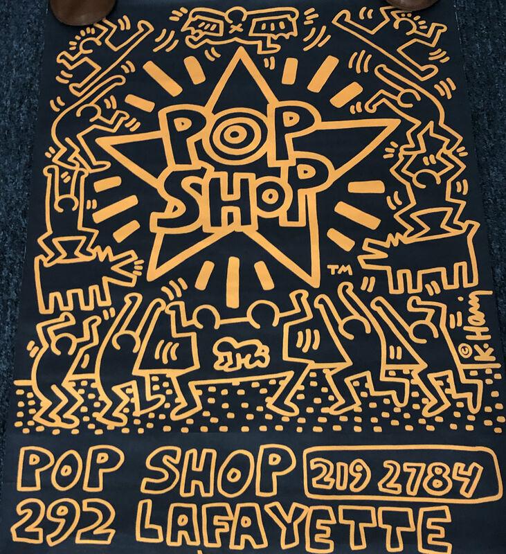Keith Haring, 'Keith Haring Pop Shop poster 1986 (Keith Haring prints)', 1986, Print, Offset lithograph, Lot 180