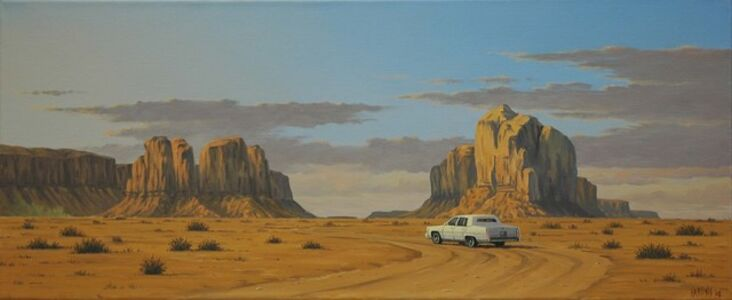 Simon Harling, 'Monument Valley Cadillac'