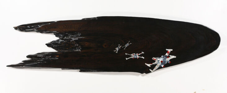 """Ted Lincoln, 'battle of yaven,, 66"""" x 18"""" x 2"""",,', 2013"""