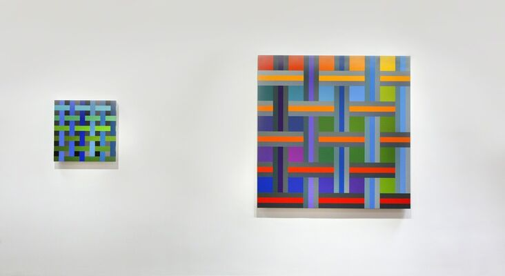 "Andrew Huffman ""Modulated: Color and Structure"", installation view"