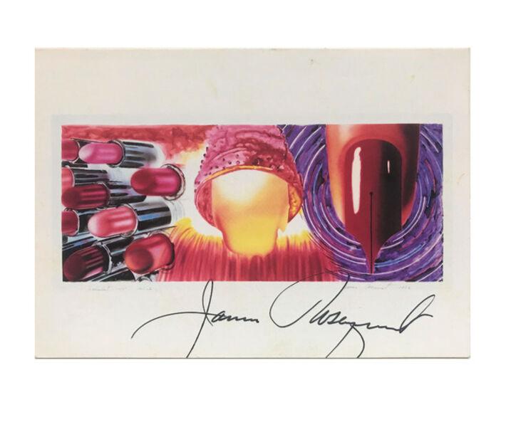 "James Rosenquist, '""Fahrenheit 1982"", ca.1980-90's, SIGNED, Whitney Museum of American Art,  note bi-fold card', 1980-90's"