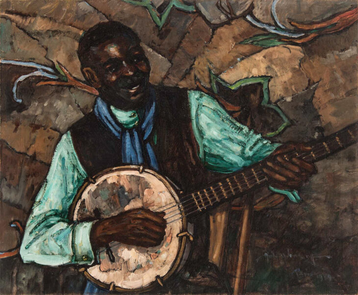 Hale Aspacio Woodruff, 'The Banjo Player', 1929