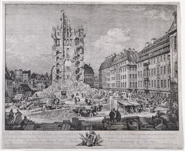 Bernardo Bellotto, 'The Ruins of the Old Kreuzkirche, Dresden', ca. 1765
