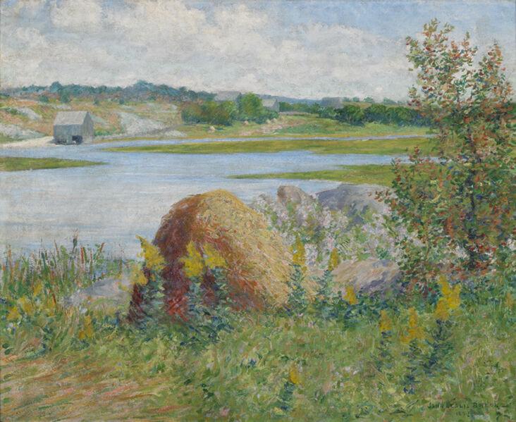 John Leslie  Breck, 'On the Essex River', 1891