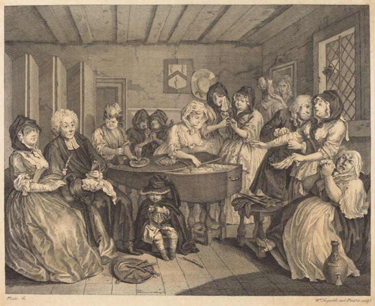 William Hogarth, 'A Harlot's Progress: pl.6', 1732