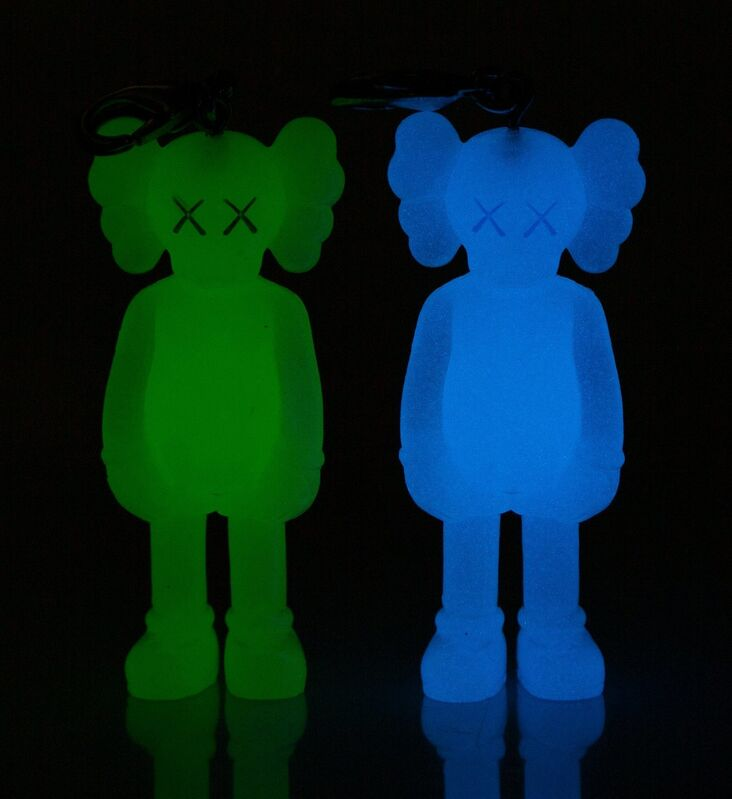 KAWS, 'Companion (Glow in the Dark), keychains (two works)', 2009, Sculpture, Painted cast vinyl, Heritage Auctions