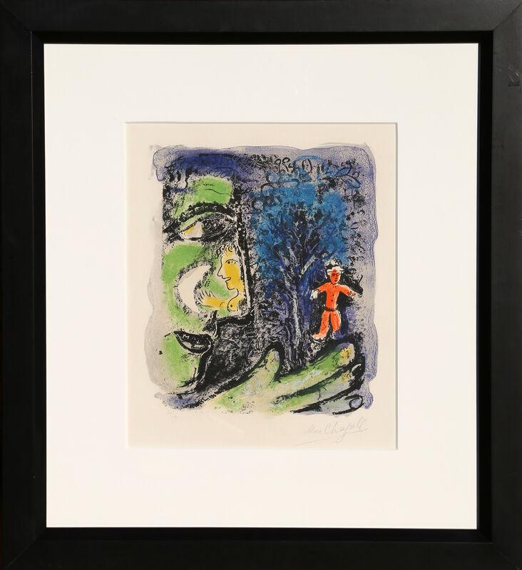 Marc Chagall, 'Le Profil et L'Enfant Rouge', 1960, Print, Lithograph on Arches paper, RoGallery Gallery Auction