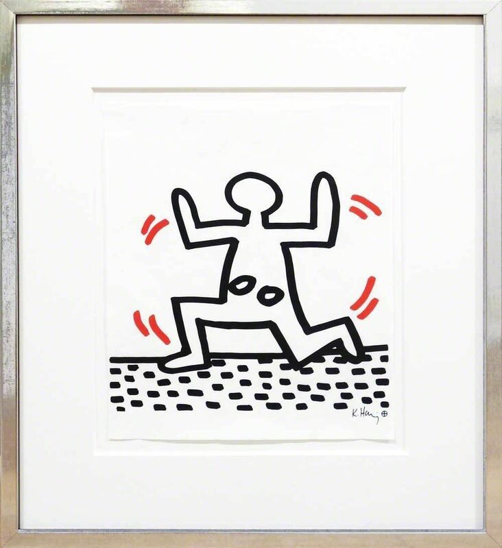 Keith Haring, 'Running Girl', 1982, Print, Silkscreen on transparent paper, Galerie Kellermann