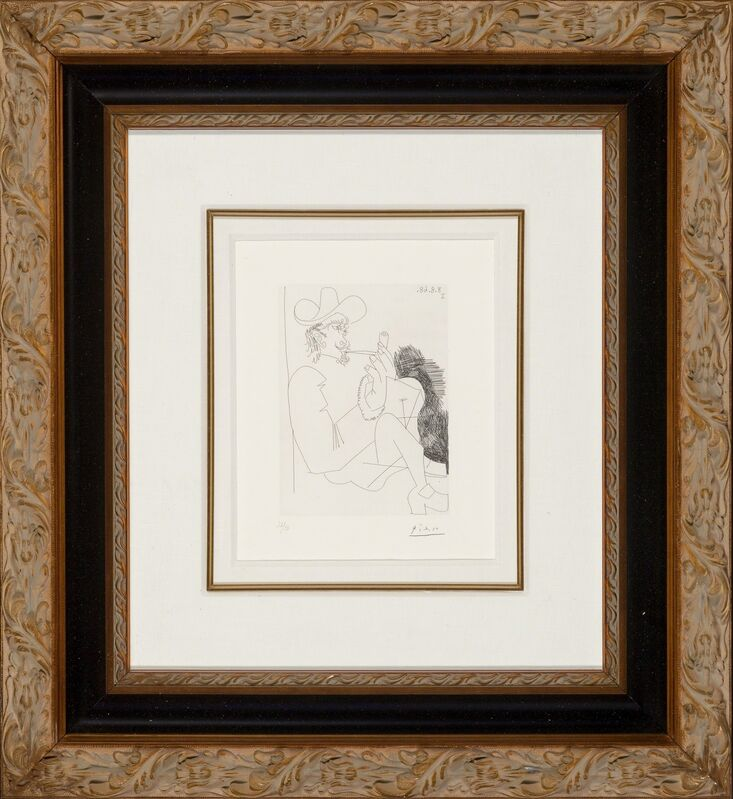 Pablo Picasso, 'Homme rembranesque à la pipe, from Séries 347', 1968, Print, Etching on BFK Rives paper, Heritage Auctions