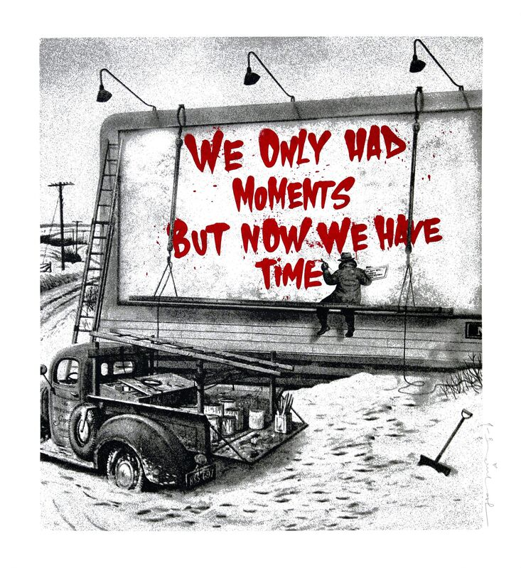 Mr. Brainwash, 'Now Is The Time (Red)', 2020, Print, Screen print on paper, Addicted Art Gallery
