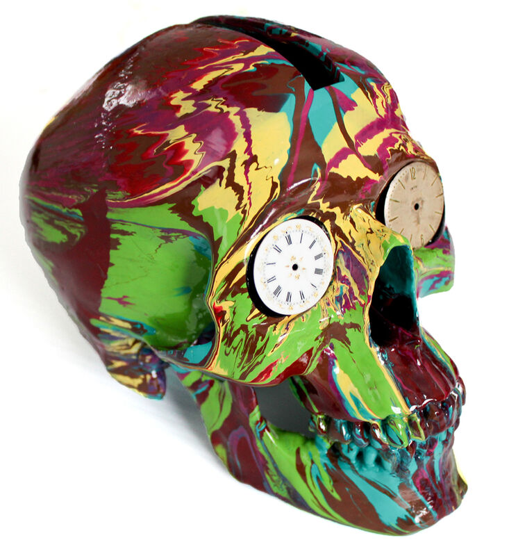 Damien Hirst, 'The Hours Spin Skull', 2008, Sculpture, Glosspaint on plastic, EHC Fine Art Gallery Auction