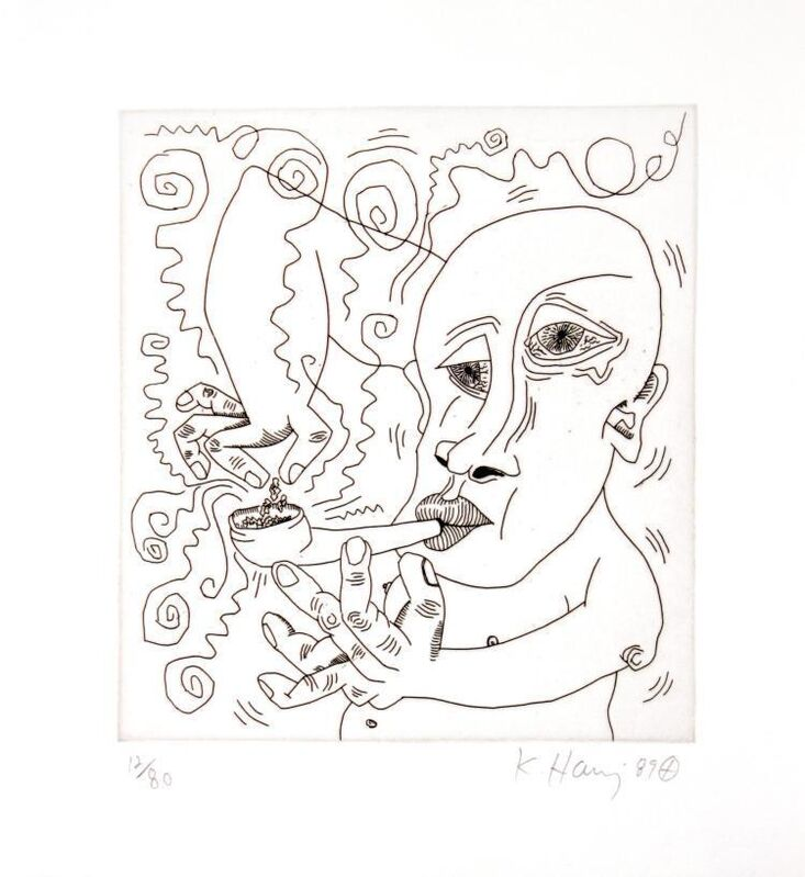 """Keith Haring, 'Untitled III from """"The Valley""""', 1989, Print, Etching, Composition.Gallery"""