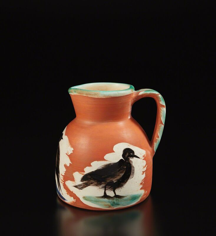 Pablo Picasso, 'Pitcher with birds (Pichet aux oiseaux)', 1962, Design/Decorative Art, White earthenware pitcher, painted in colors with brushed glaze., Phillips