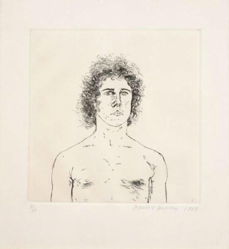 David Hockney, 'Portrait of a Young Man ( Wayne Sleep)', 1969, Print, Etching, Michel Soskine Inc.
