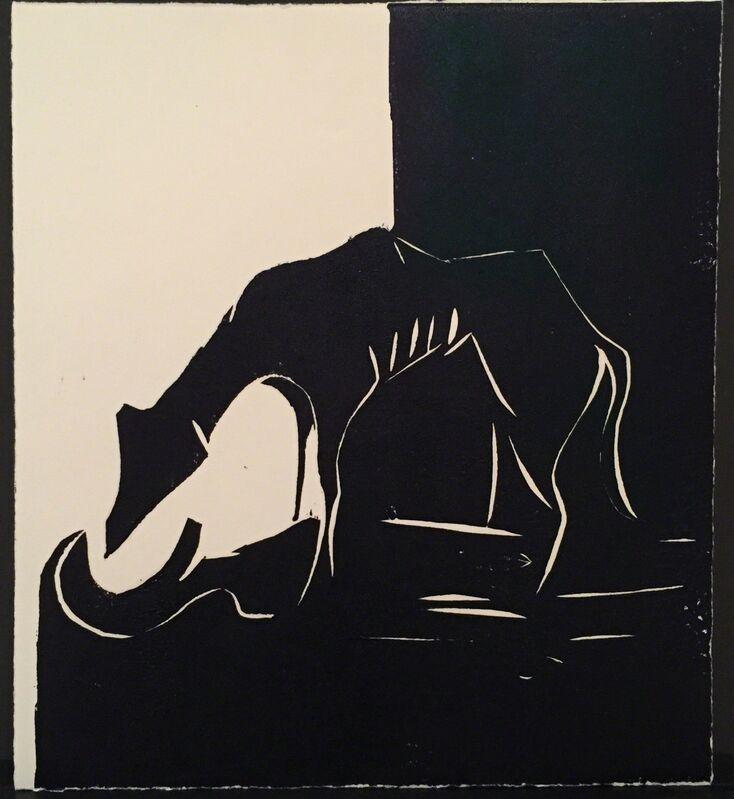 Rachel Howard, 'Not The Last', 2015, Print, Hand printed linocut, oil on paper, Paul Stolper Gallery