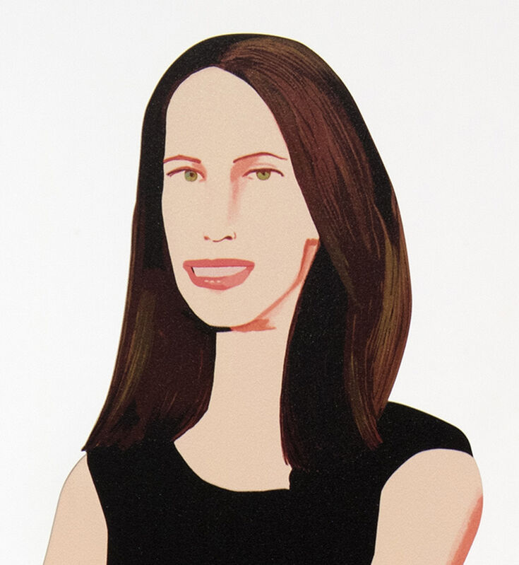 Alex Katz, 'Christy', 2018, Sculpture, Cutout from shaped powder-coated aluminum, printed the same on each side with UV cured archival inks, clear coated, and mounted to 1/4 inch stainless steel base. Signed., Meyerovich Gallery
