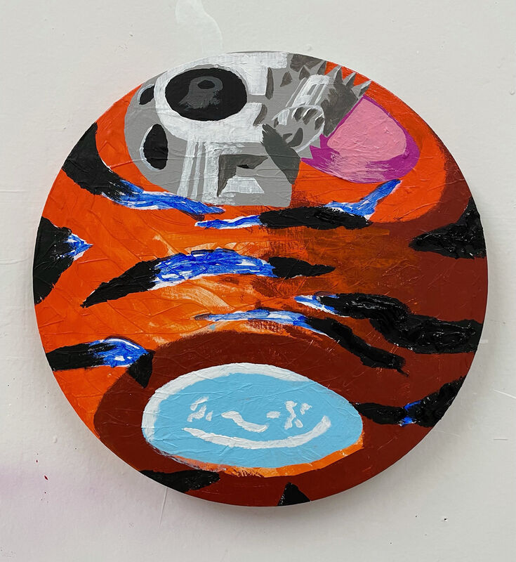 Royal Jarmon, 'Tigre', 2021, Painting, Oil and acrylic on panel, The Hole