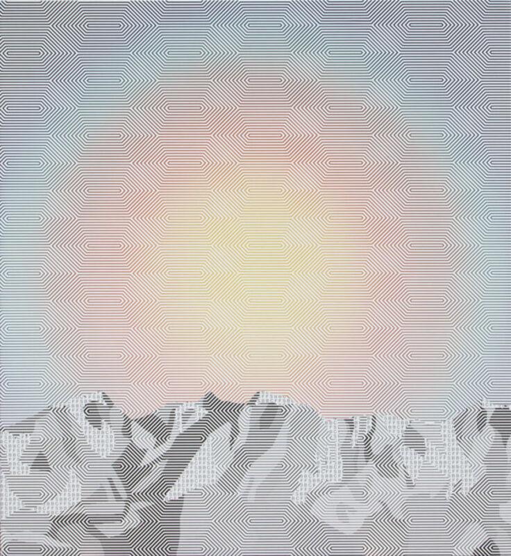 Stéphane Kropf, 'Sans titre (Temperature's Rising)', 2014, Painting, Acrylic on canvas, Collectionair