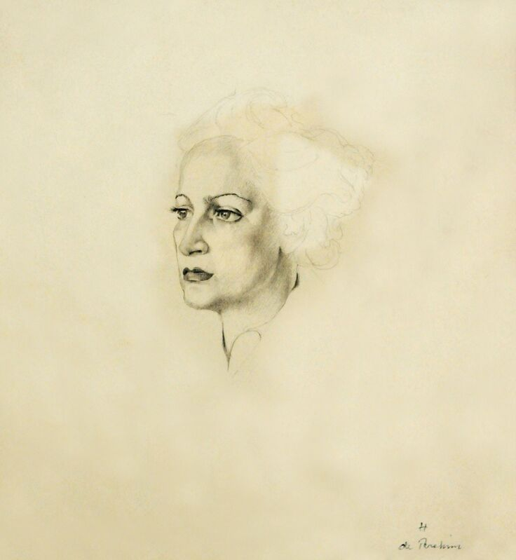 Hedda Sterne, 'Selfportrait', ca. 1938, Drawing, Collage or other Work on Paper, Pencil on paper, Postmodernism Museum