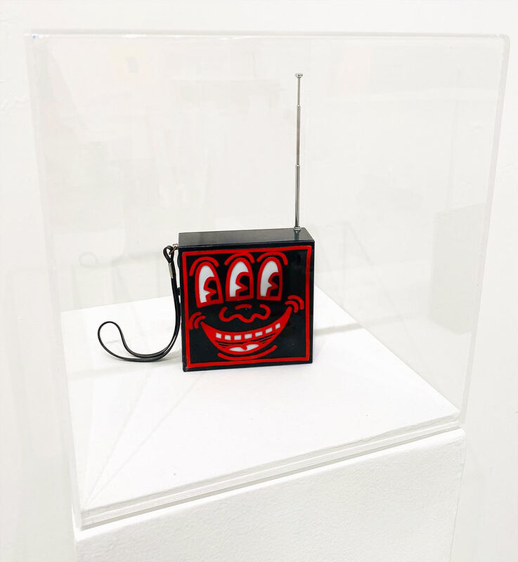 Keith Haring, 'Pop Shop AM / FM Plastic Radio (Red and Black)', 1985, Sculpture, Edition Multiple / Plastic Radio, Robert Fontaine Gallery