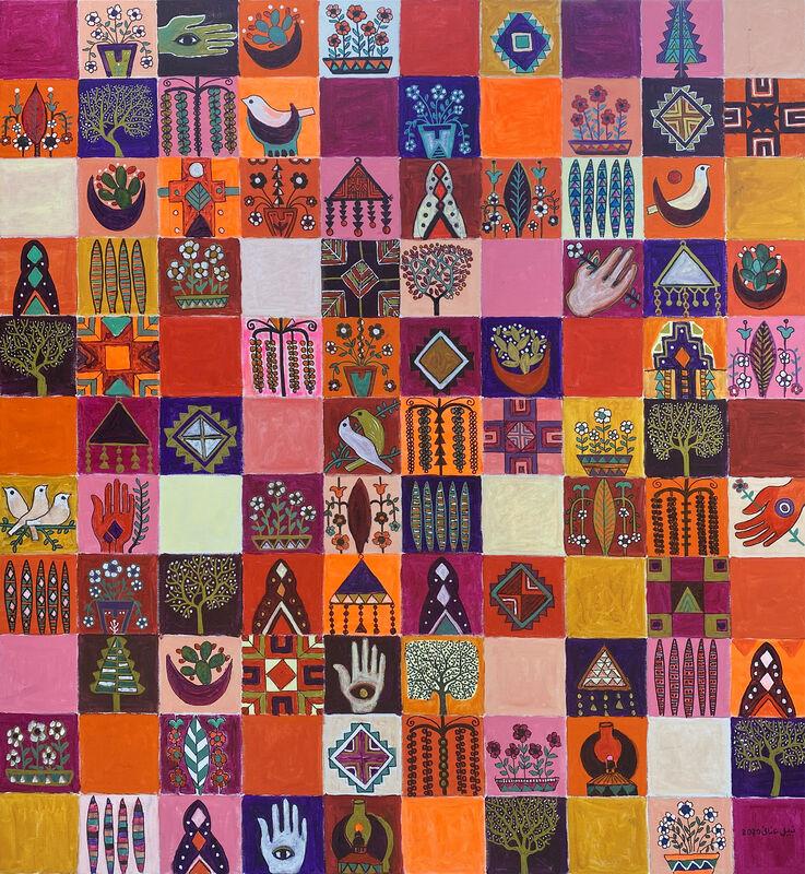 Nabil Anani, 'Palestinian Folklore', 2020, Painting, Acrylic on canvas, Zawyeh Gallery