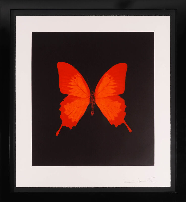 Damien Hirst, 'Butterfly Soul Etching, Red ', 2007, Print, Etching, Arton Contemporary