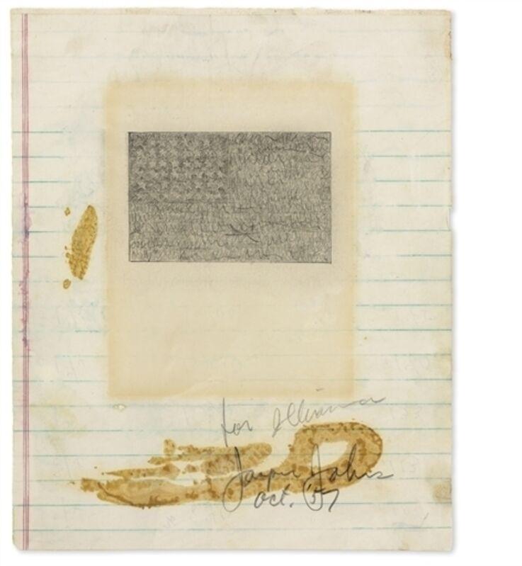 Jasper Johns, 'Flag', Graphite on paper, Christie's