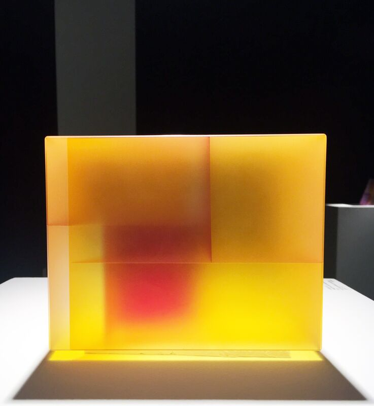 Jiyong Lee, 'Yellow Red Cuboid Segmentation', 2017, Sculpture, Cut, Color Laminated, Carved Glass, Duane Reed Gallery