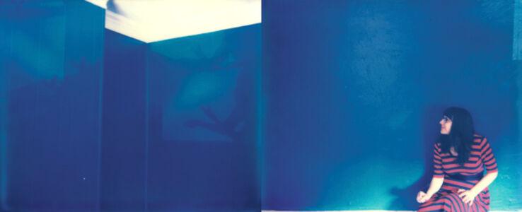 Lisa Toboz, 'Shadow Play - Blue, Contemporary, Figurative, Woman, Polaroid, Photograph', 2016