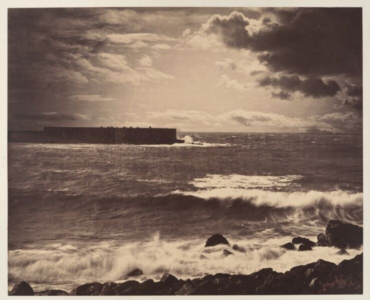 Gustave Le Gray, '[The Great Wave, Sète]', 1857