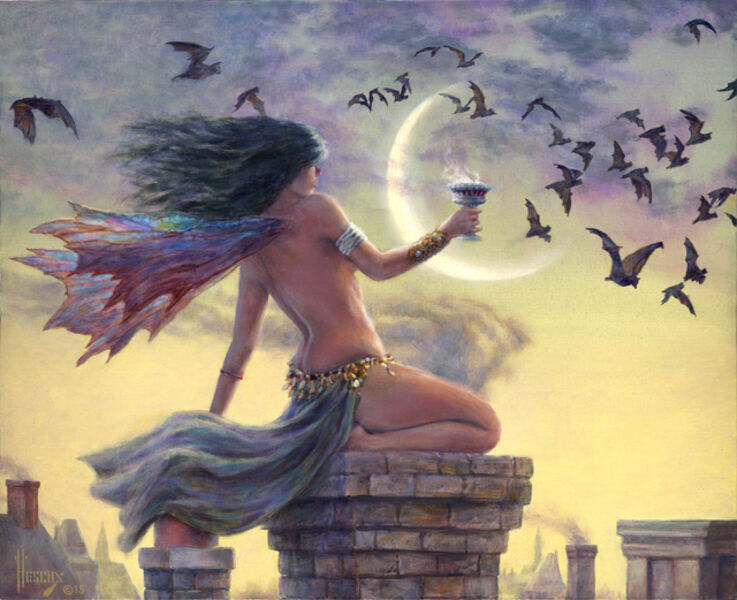 Richard Hescox, 'A Cup of Moonlight', 2015
