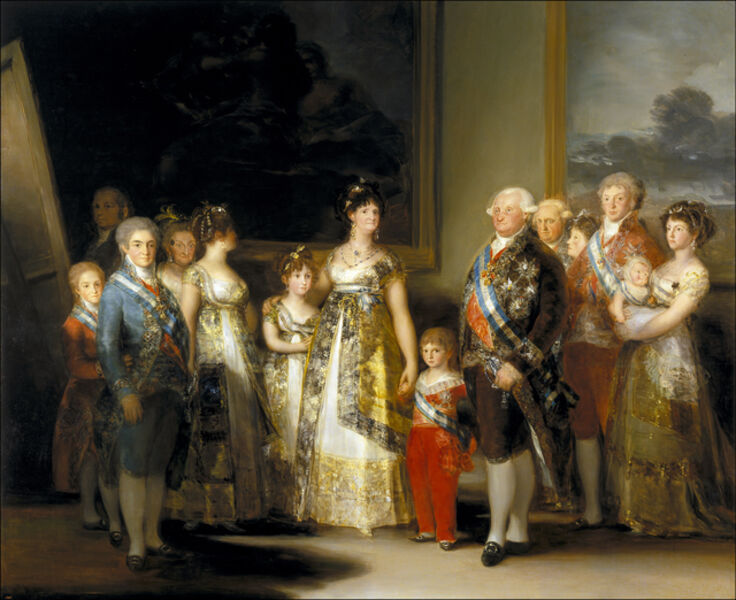 Francisco de Goya, 'King Charles IV (1748-1819) of Spain and his Family, Queen Louisa (1751-1819) and their Children', 1800