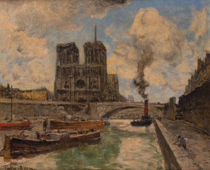 Frank Myers Boggs, 'Paris la Seine, les Quais Notre Dame', circa 1900