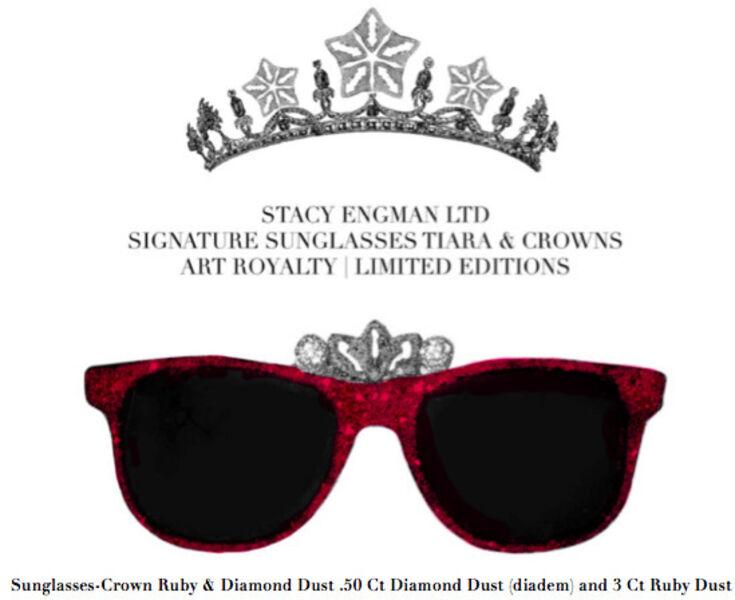 Stacy Engman, 'Sunglasses-Crown Ruby & Diamond Dust .50 Ct Diamond Dust (diadem) and 3 Ct Ruby Dust', 2019