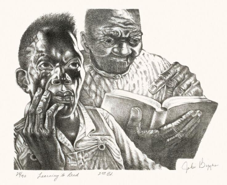 John Thomas Biggers, 'Learning to Read', ca. 1960