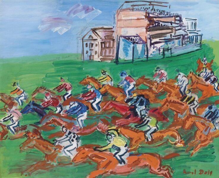 Raoul Dufy, 'Epsom, the race', 1933