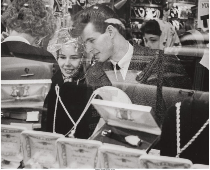 Joseph Sterling, 'Untitled (Couple at a jewelry store)', 1961