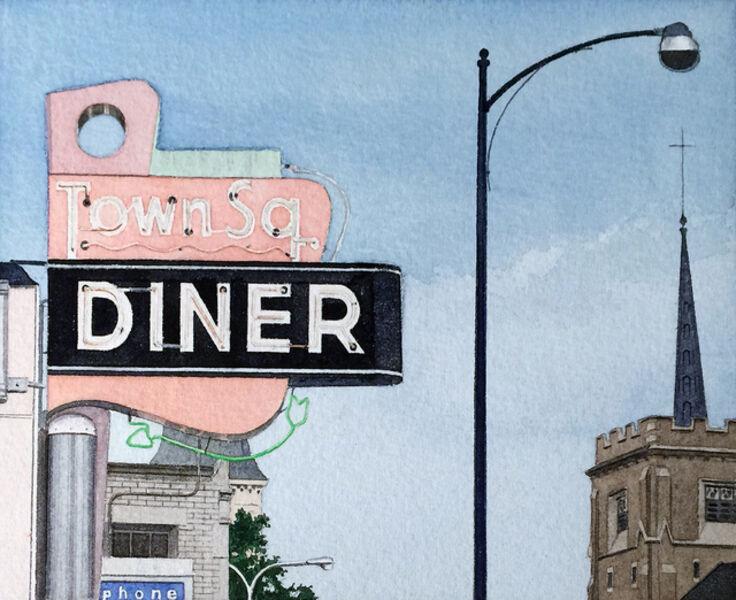 John Baeder, 'Town Square Diner', 1975