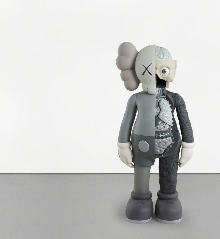 KAWS, 'FOUR FOOT DISSECTED COMPANION (Grey)', 2009, Sculpture, Painted cast vinyl, Phillips