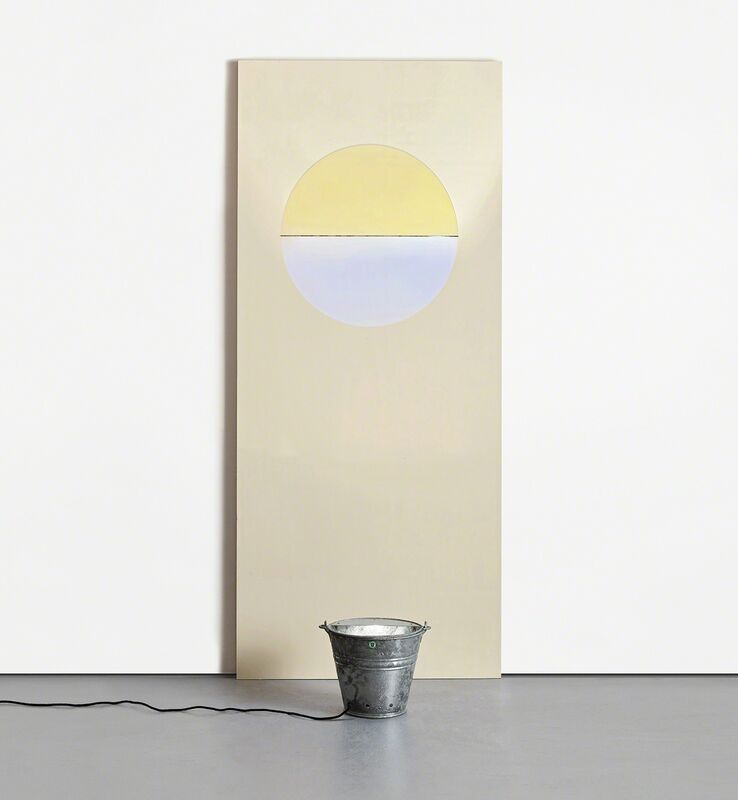Olafur Eliasson, 'Sunset Door, from Door Cycle', 2006, Installation, Painted wooden door panel with curved colour effect glass filter and galvanised steel bucket with light fitting., Phillips