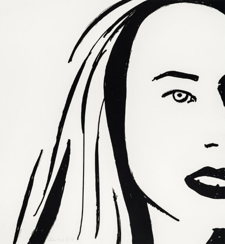 Alex Katz, 'Alex Katz, Beauty 6', 2019, Print, Etching on paper, Oliver Cole Gallery