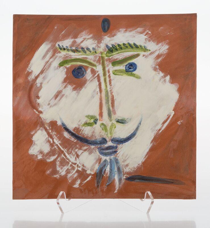 Pablo Picasso, 'Visage à la barbiche', 1968, Design/Decorative Art, Terre de faïence plaque, partially glazed and painted in colors, Heritage Auctions