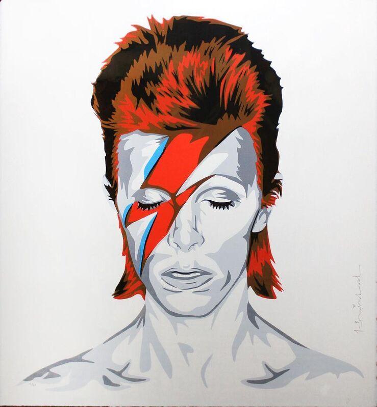 Mr. Brainwash, 'Bowie', 2016, Print, Original six-colors screen-print on paper, Samhart Gallery