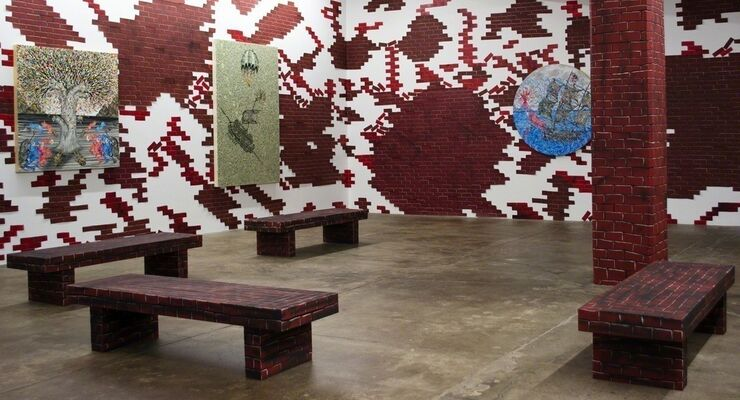 Andrew Schoultz, installation view
